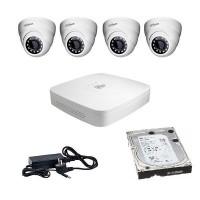 Комплект за видеонаблюдение с 4 камери ден/нощ Dahua