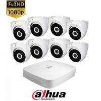 Комплект 8 охранителни камери 2Мпх хард диск и DVR видеорекордер DAHUA